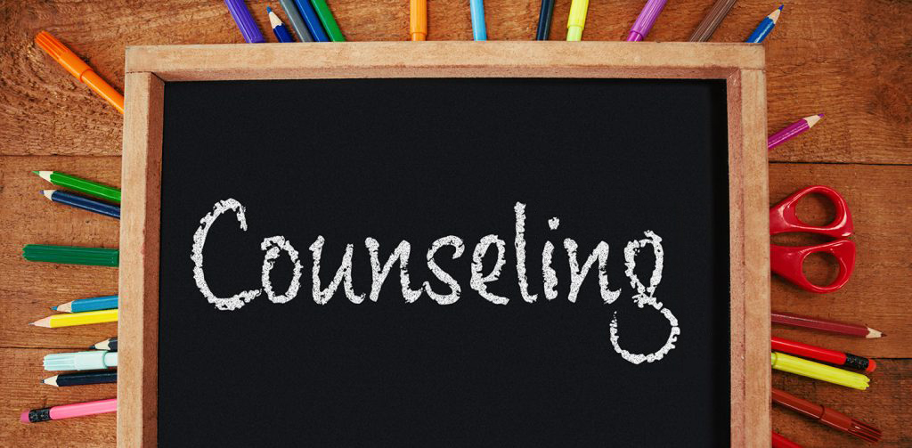 Counseling written on chalkboard